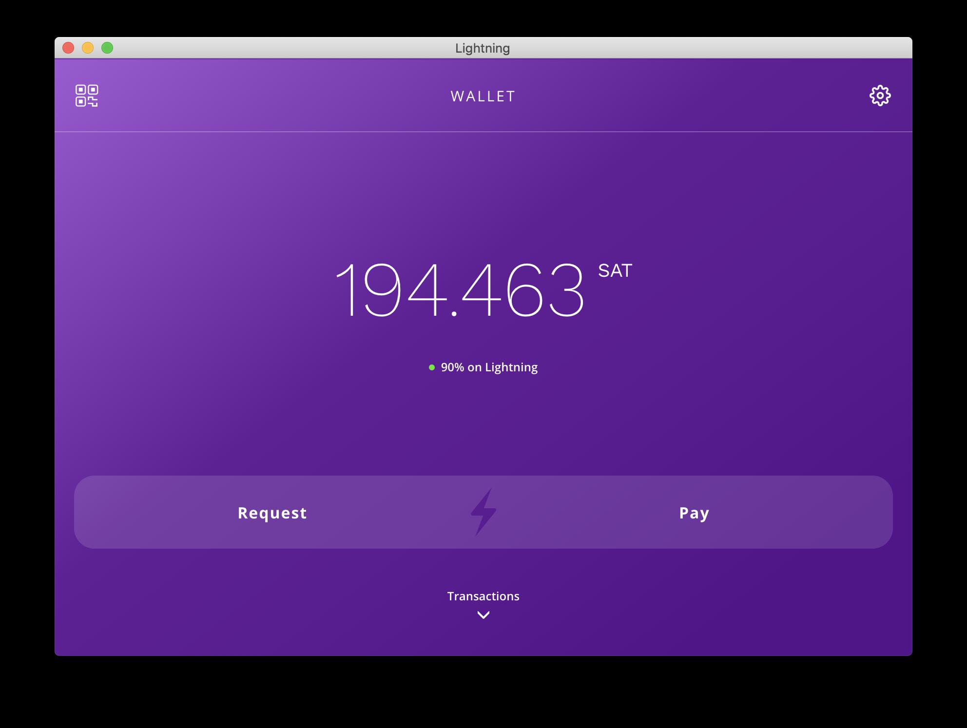 Screenshot of Lightning Desktop App Channel View